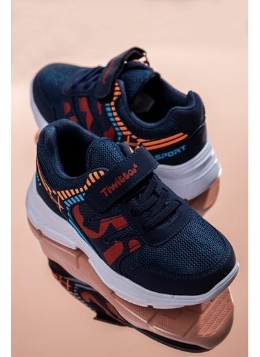 Tonny Black Lacivert Kırmızı Çocuk Spor Ayakkabı Tbz14  Lacivert